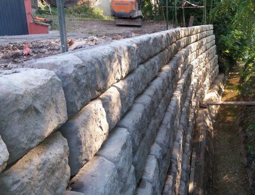 Consolidamento dell'argine di un fossato nell'Alto Mantovano